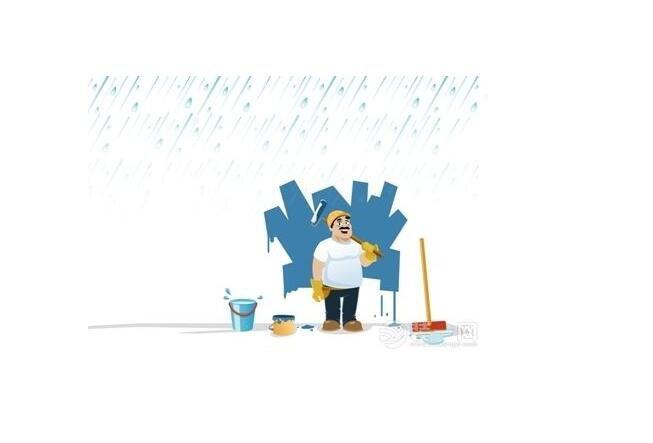 监看施工人员的动作,雨天并不是所有的事情都不能干。提醒他们先把能干的干好等雨停了继续干耽误的事,例如室内卫生间装修,基本上和雨天没什么冲突;不管是哪个工序安全永远排在第一位,装修材料中很大一部分都是易燃的,雨天他们会集中摆放,所以防火是重点;雨天施工不能把窗户管得太死,那样有害气体和灰尘都会停留在室内,人在里面工作身体会有危害。
